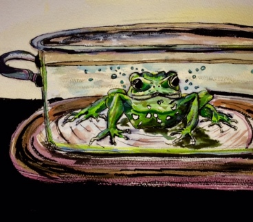 boiling frog image