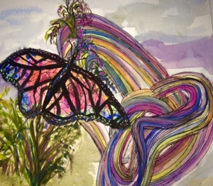 Image:  Gouache, charcoal and ink by Black Elephant Blog author