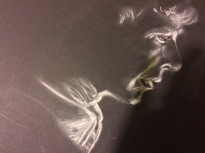 Illustration:  Pastel pencil and white charcoal by Black Elephant Blog author