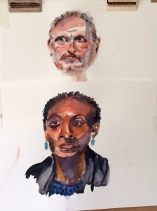 Illustration:  Studio watercolor exercises in pencil and watercolors by Black Elephant Blog author
