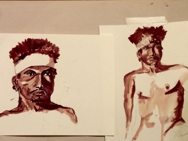 Ink Wash Portrait