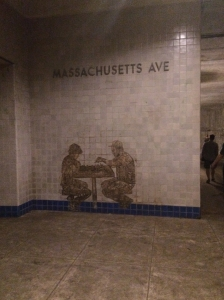 Illustration: Photo of image on a wall in the Dupont Underground