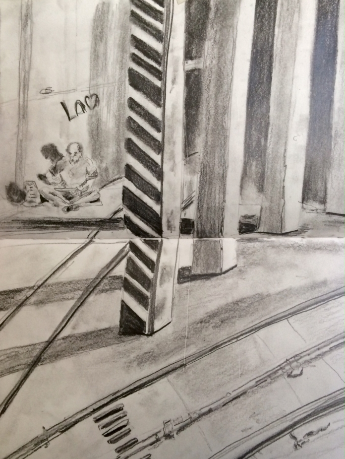 Illustration: Pencil sketch of the Dupont Underground by Black Elephant Blog author