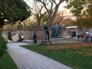 Photo:  Scene at the Hirschhorn on an Indian Summer day
