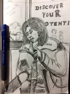 Illustration:    Pencil sketch using Staedtler 0.7mm mechanical pencil by Black Elephant Blog author