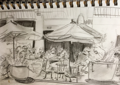 Dining al fresco sketch