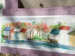 Lakeside watercolor 1