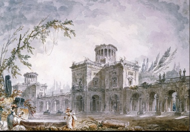Hubert Robert Watercolor