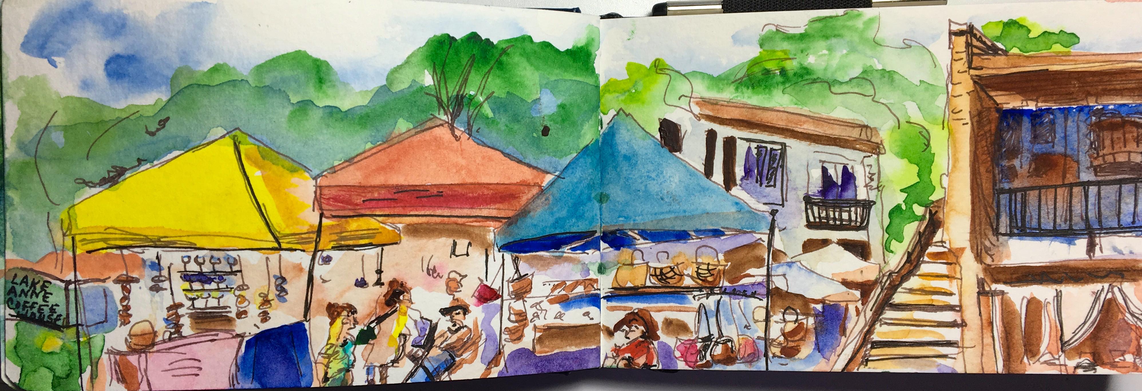 LA market sketch