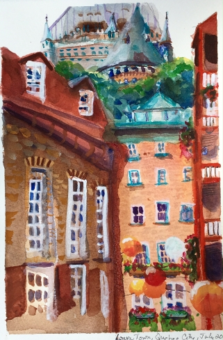 Quebec City watercolor