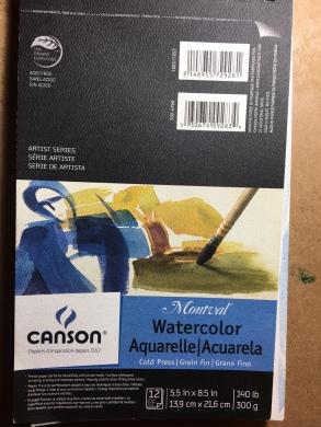 Canson watercolor sketchbook