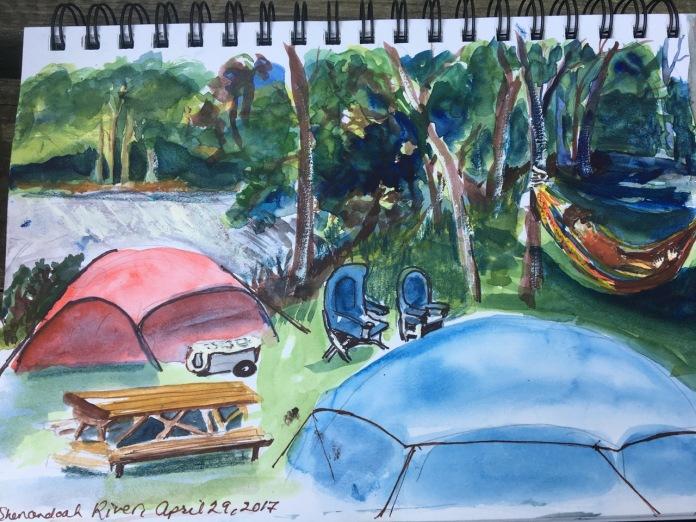 Campsite sketch