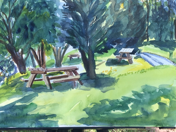 Picnic Tales watercolor
